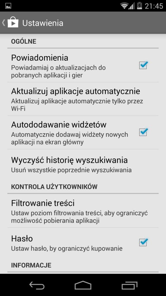 Automatyczna Aktualizacja Android Ustawienia 2