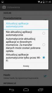 Automatyczna Aktualizacja Android Tylko WiFi