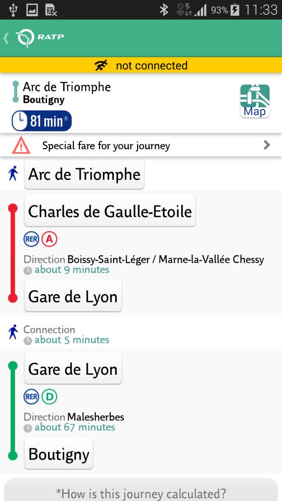 Mapa Metra Paryż Android