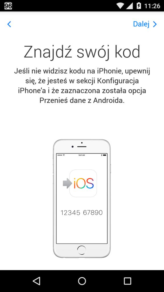 Przenoszenie danych iPhone