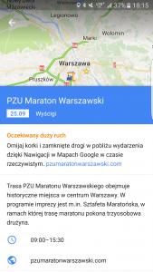 Google Maps Maraton Warszawski