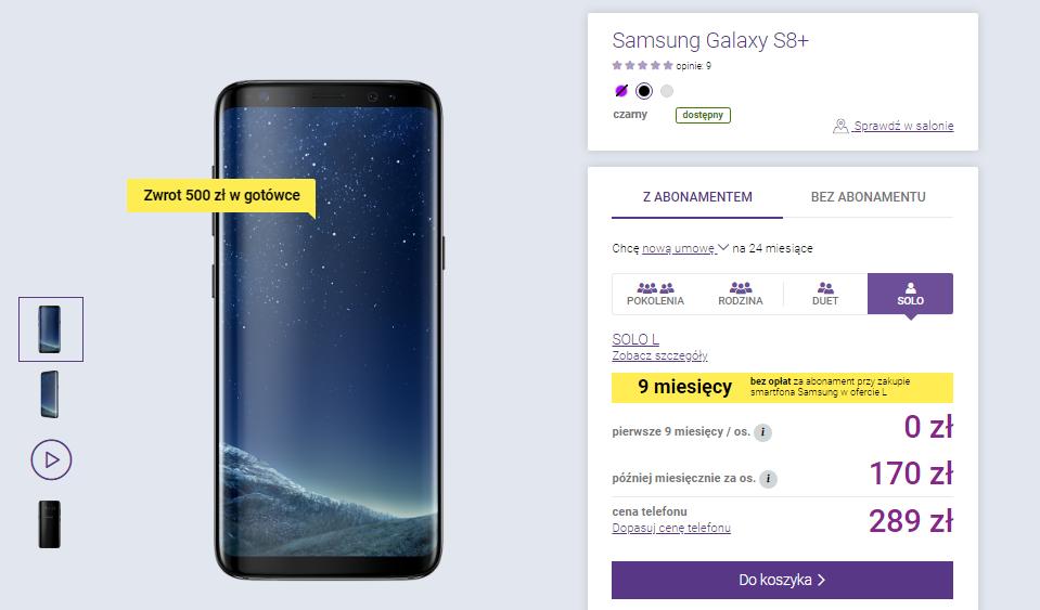 Promocja Samsung w Play 500zł