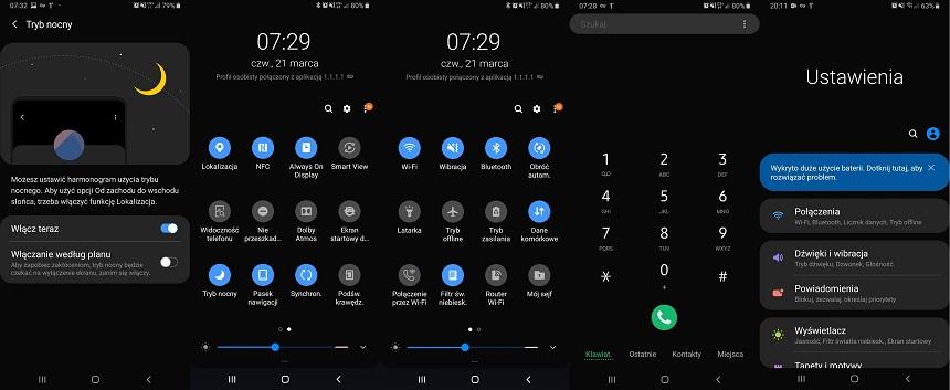 Tryb Nocny Samsung S8